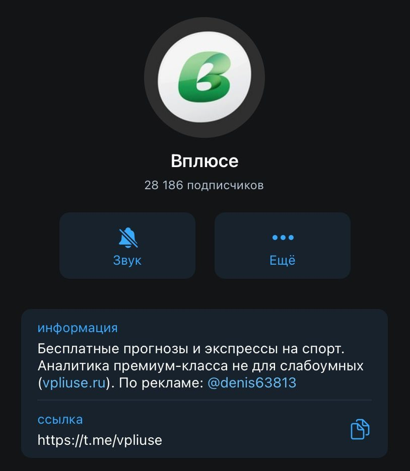 Телеграм канал https Vpliuse ru (Вплюсе ру)