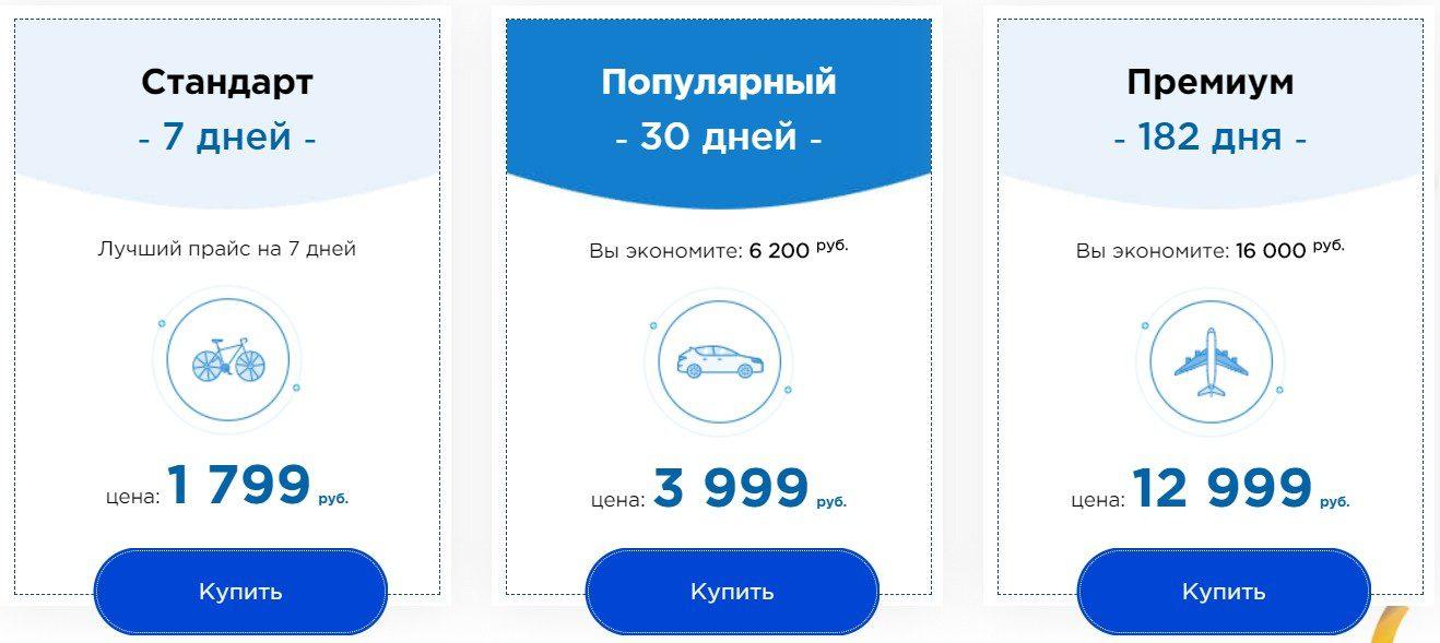 Цены за подписку на Dreambets