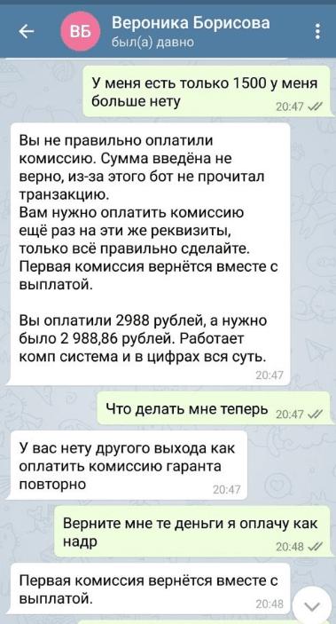 Переписка с Вероникой Борисовой