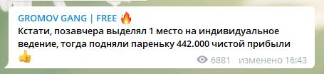 Условия по доверительному управлению от Gromov Gang Free