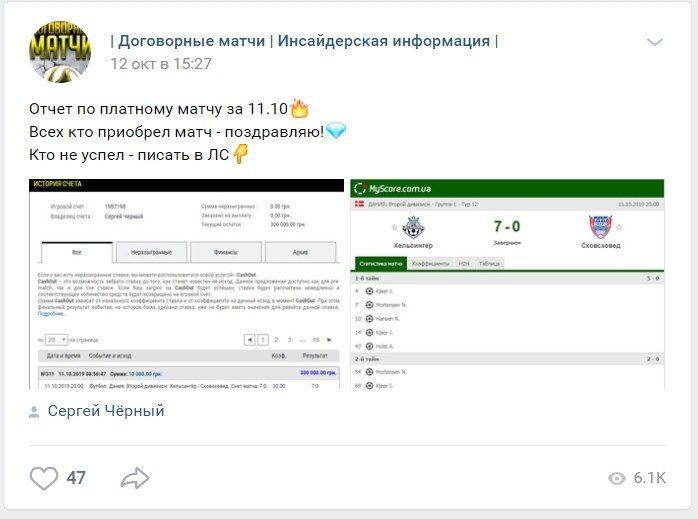 Коэффициенты и статистика прогнозов от Сергея Черного