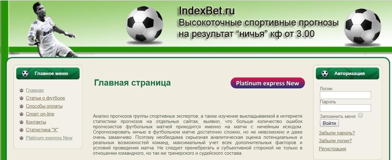 Отзывы о Indexbet.ru