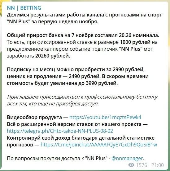 Цены за подписку на каппера в Телеграме
