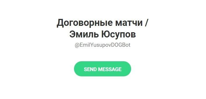 Телеграм проект Договорные Матчи/Эмиль Юсупов