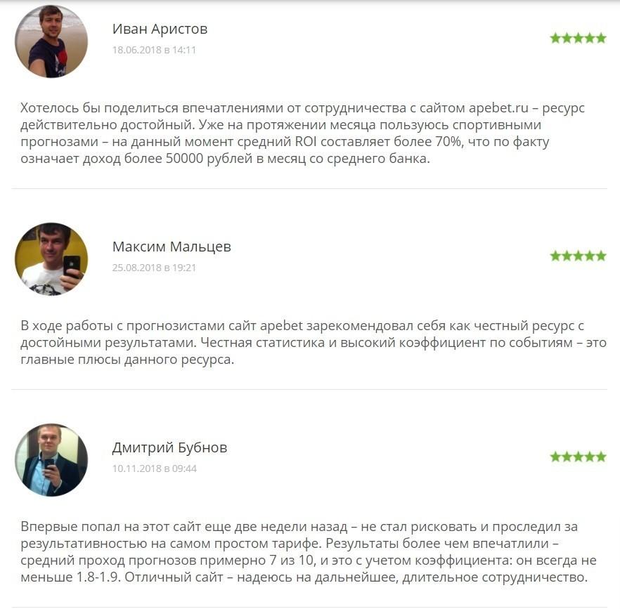 Отзывы о работе сайта ApeBet ru