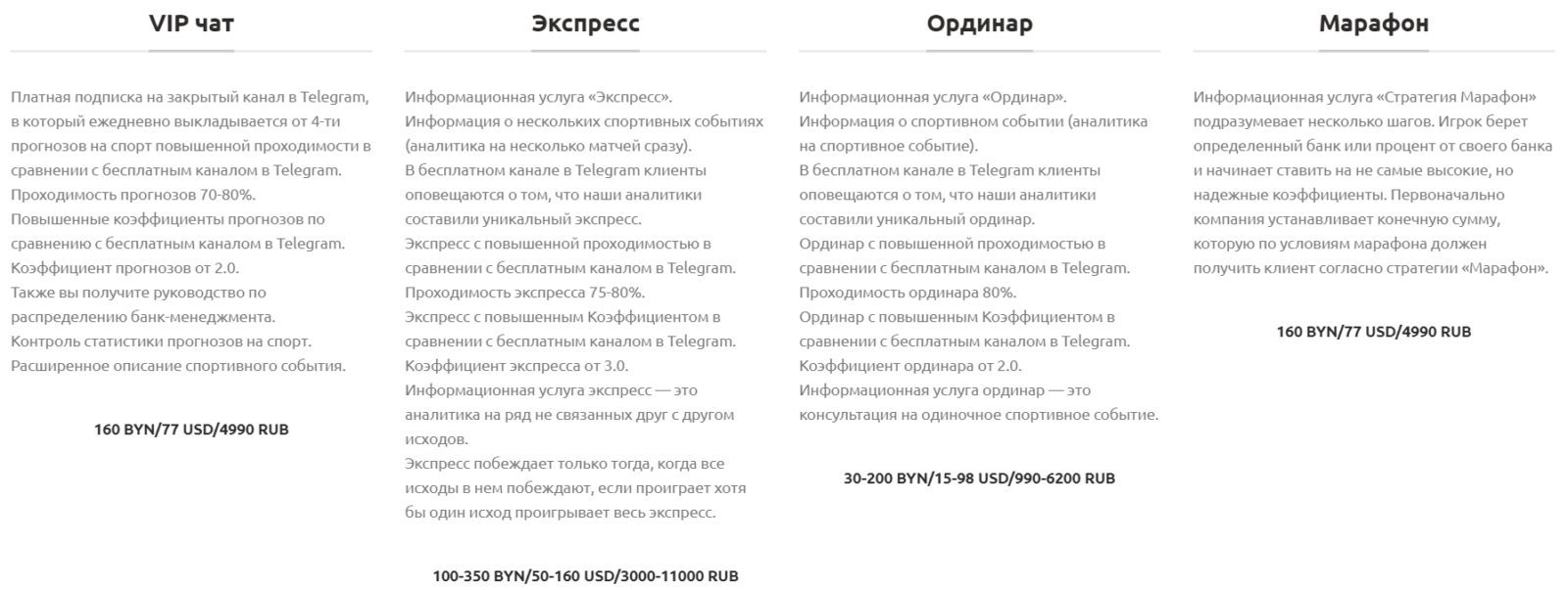 Платные услуги на сайте Infobet.by