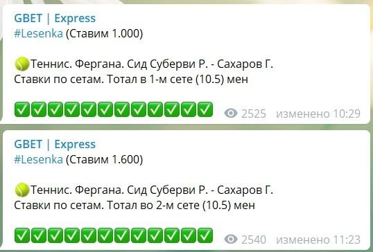 Коэффициенты и статистика ставок от Gbet Express в Телеграме