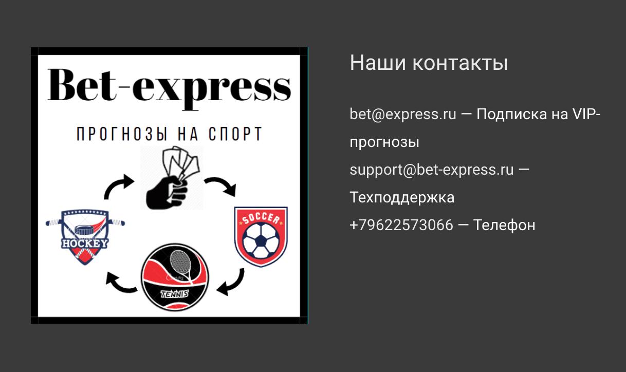 Контакты на сайте Bet Express ru (Экспресс Бет ру)