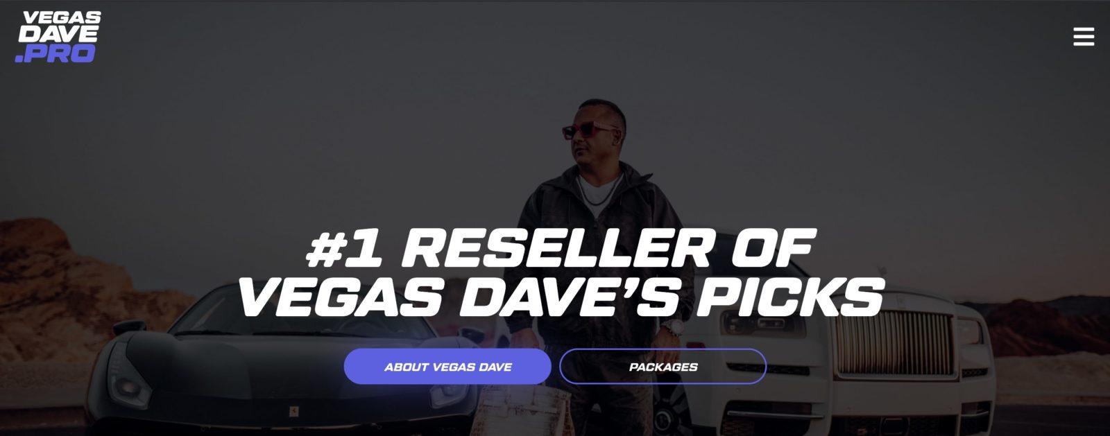 Главная страница сайта Dave Vegas (Дэйв Вегас)