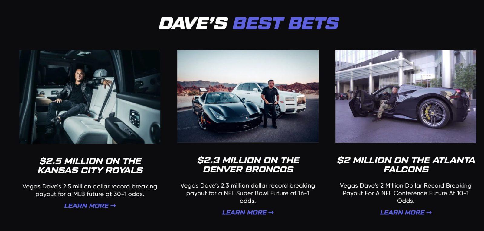 Достижения Dave Vegas (Дэйв Вегас)