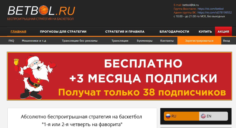 Отзывы о Betbol.ru (Бетбол)