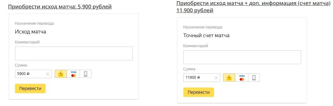Цены за подписку на каппера Fixedgame