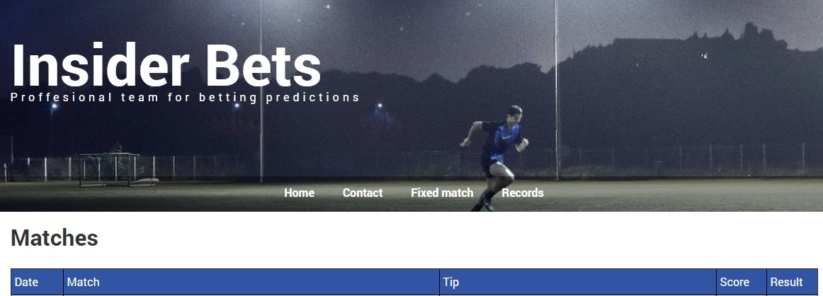 Главная страница сайта Insider Bets (insiderbets.ru)
