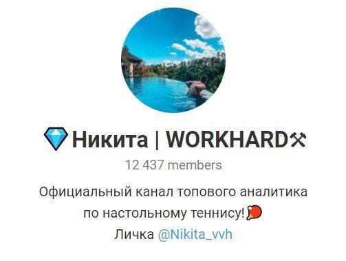 Отзывы о Никита Workhard — телеграм канал