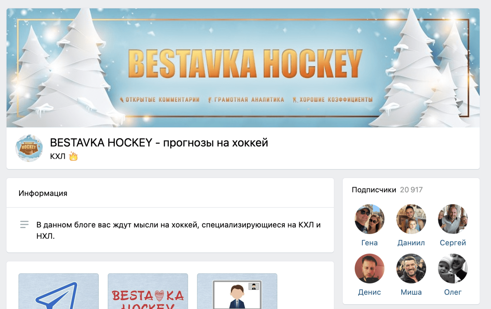 Группа ВК Bestavka hockey