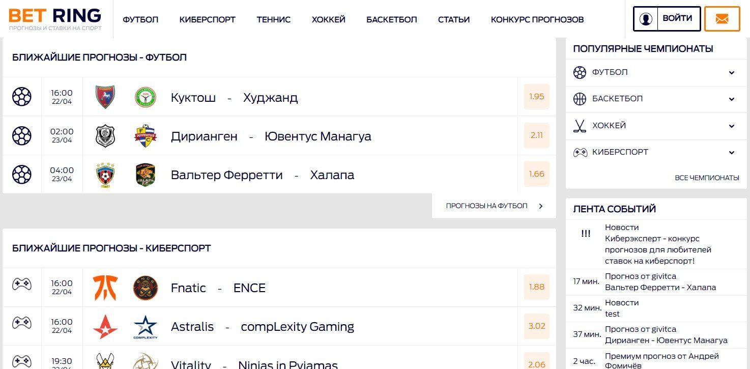 Отзывы о bet-ring.ru