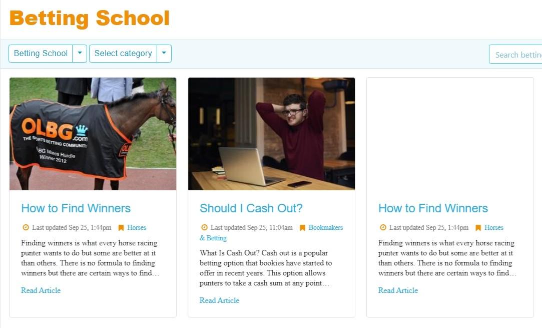 Обучение от OLBG.com