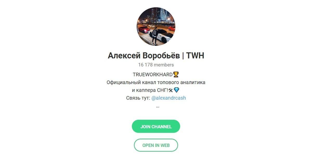 Отзывы о Алексей Воробьев TWH — телеграмм канал