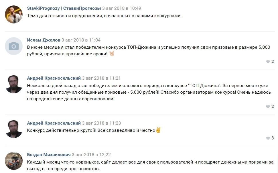 Отзывы о каппере Stavkiprognozy.ru (Ставки прогнозы ру)