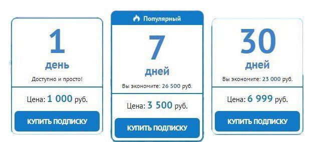 подписка на капперов пример тарифов