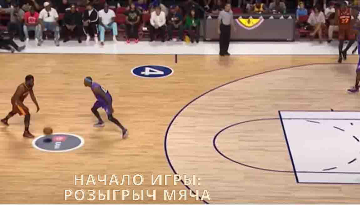 начало игры в баскетбол