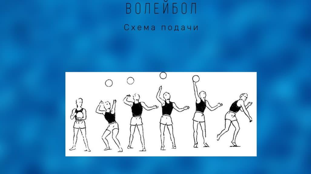 схема подачи в волейболе